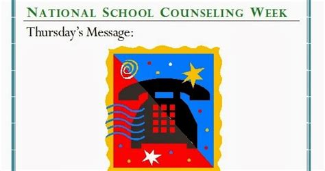 national school counseling week thursday s message national school counseling week the