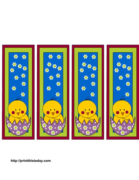 printable easter bookmarks to colour more easter bookmarks