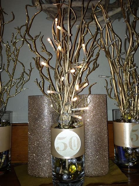 50 th anniversary centerpiece inspiration anniversary