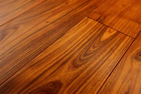 3/4' thick rich color mongolian teak hardwood flooring