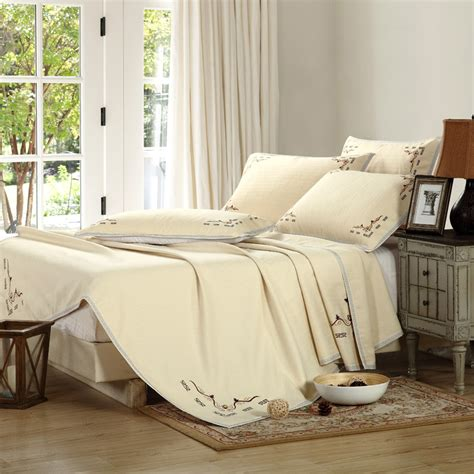 beige twin comforter summer cotton linen bed sheet set twin full queen size