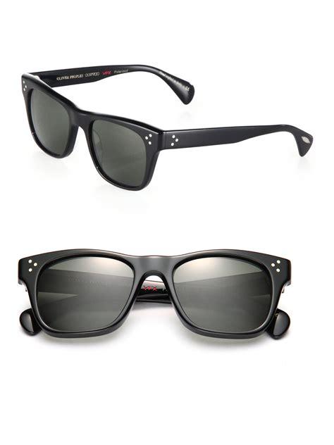 Frame Kacamata Oliver Peoples Huston Black oliver peoples huston 52mm square sunglasses in black