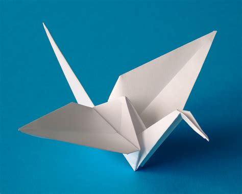 Japanese Of Paper Folding - file origami crane jpg simple the