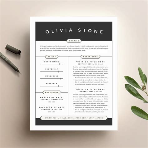 Buy Creative Resume by Resume Templates Creative Market Creative Resume Template