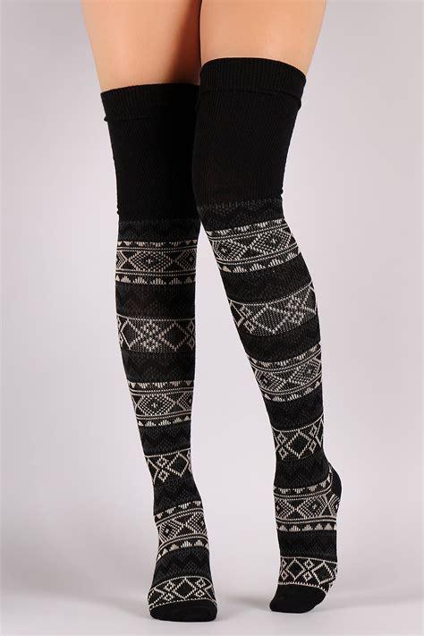 knitted thigh high socks wool knitted pattern thigh high socks urbanog