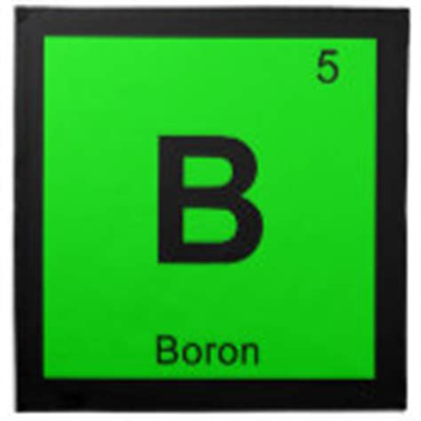Boron Periodic Table by Boron Individual Element Of The Periodic Table Printed