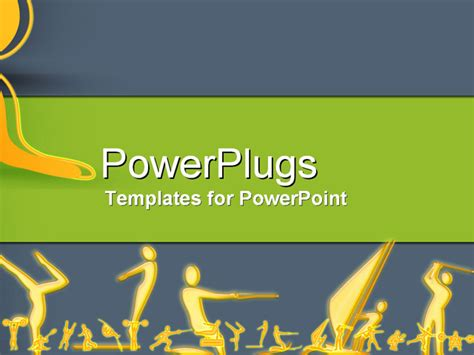 all sports powerpoint template background of sport sports