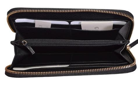 New Gucci Catur Kulit Leather Black gucci black new 363423 textured leather embossed logo zip wallet tradesy