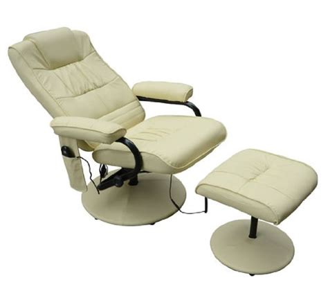 homcom pvc leather recliner and ottoman set cream discounted furniture store 187 homcom faux leather massage