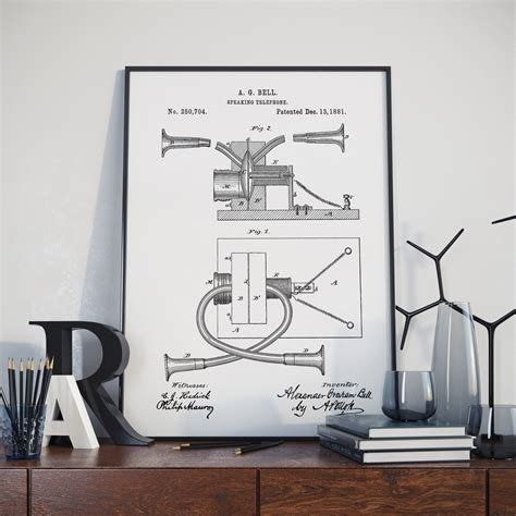 Patent Scientist by Graham Bell Patent Cobblestone Productions Historic Prints Reproductions Events