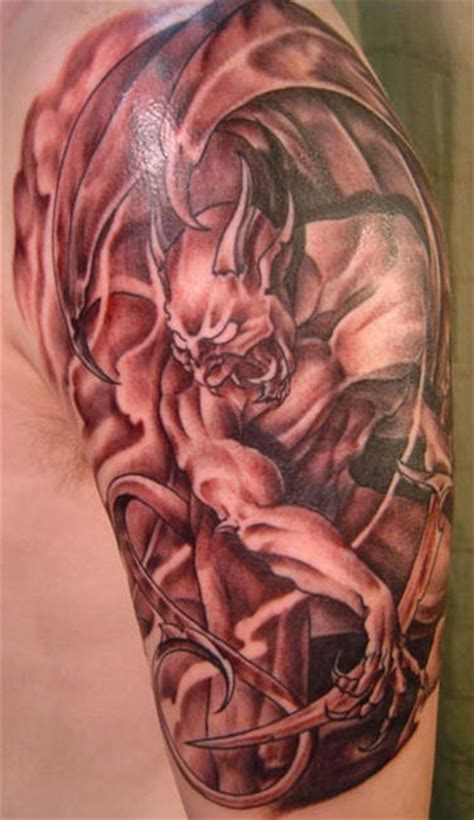 realistic gargoyle demon tattoo tattooimages biz