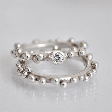 Handmade Silver Engagement Rings - handmade engagement and wedding ring set sterling