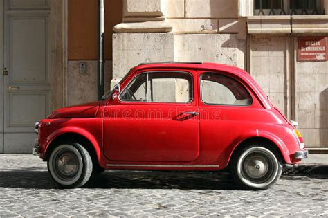 a small compact car was involved in a rollover crash small compact vintage car stock photo image of