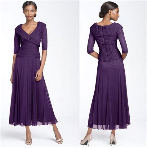 Three Of The Best Tea Dresses by 2011 Mm042 Chiffon V Neck Design Three Quarter