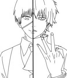 Easy Drawing Tokyo Ghoul Kaneki Ken Sketch Coloring Page sketch template