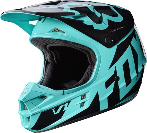 2017 Fox V1 Race Motocross Helmet Aqua 1stmx Co Uk