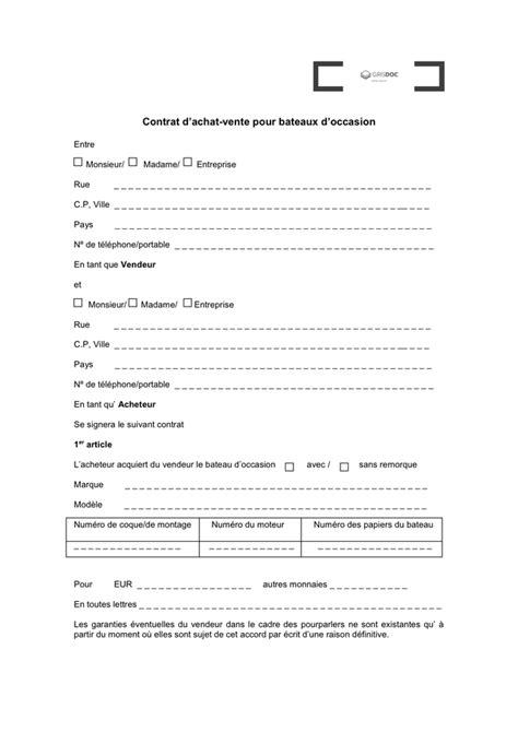 Contrat de vente - téléchargement gratuit documents PDF