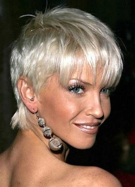 platinum hair on 50 year old best short hair cuts for over 50 short hairstyles 2016