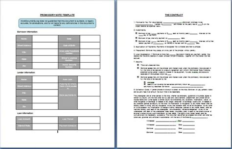 Best 25 Promissory Note Ideas On Pinterest Lease Agreement Free Printable Bill Of Sale Promissory Note Calculator Template