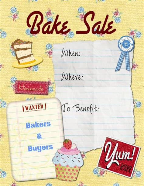 bake sale flyer free template bake sale flyer template word images