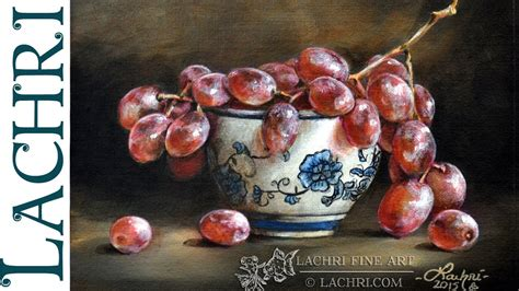 watercolor grapes tutorial how to glaze time lapse grapes painting demo by lachri