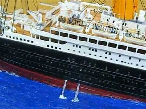 Titanic Sinking Model by Model Titanic Sinking