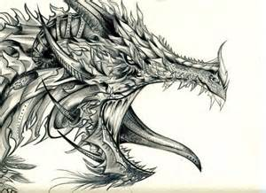Awesome drawings of dragons dragon drawing 7