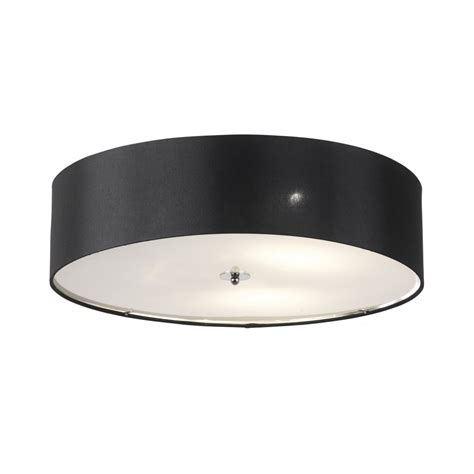 Endon Ceiling Lights Franco 60bl Black Ceiling Light Endon 3 Light Franco Flush Ceiling Light