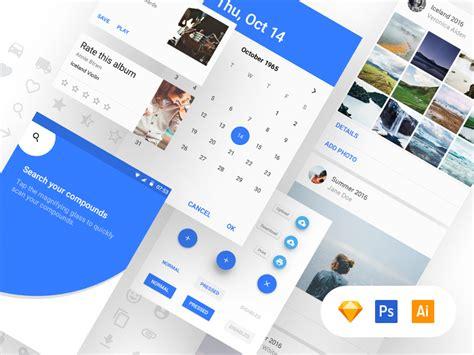 material design google kit material design ui kit free by adam zielonko dribbble