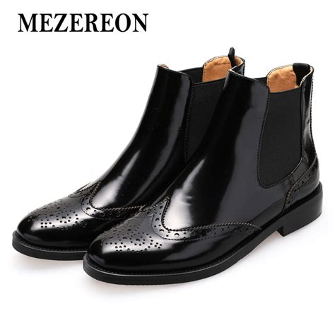 Designer Boots For Fall Winter by Mezereon Boots Genuine Leather Ankle Boots Fashion