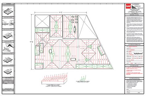 Architectural Layouts gaf tapered design group