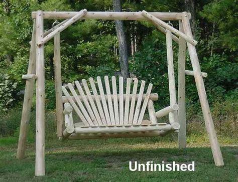 log porch swing 4 cedar log porch swing with stand swings pinterest
