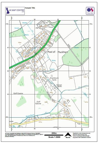 national sample survey reports ordnance survey extract 1 5000 map by post enlarged