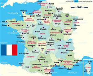 Map of france politically map in the atlas of the world world