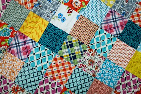 The Patchwork - blue is bleu ds patchwork baby quilt