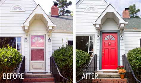 front door before and after fall front door before and afters