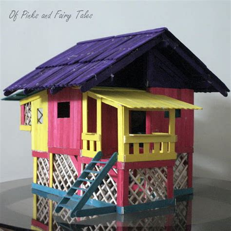 how to make a doll house with popsicle sticks 15 homemade popsicle stick house designs hative