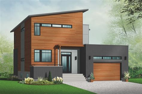 Modern Style House Plan 3 Beds 2 5 Baths 1784 Sq Ft Plan Modern Homes House Plans