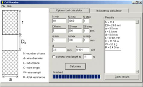 inductor winding software calculator software electronic circuits