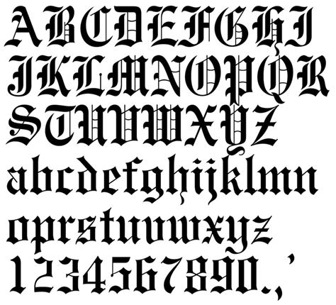old english tattoo letters font villakajava