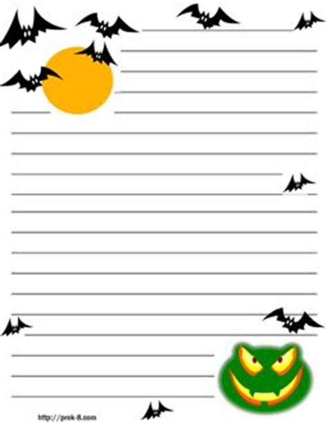 spooky writing paper bats scary frog background regular lined