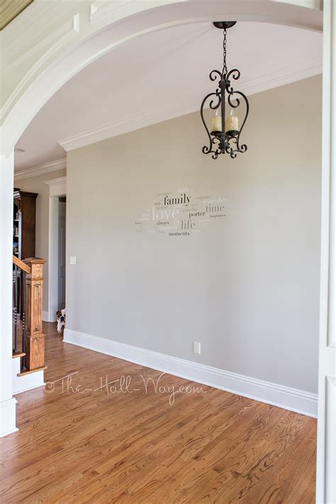 What Color Walls With Gray Cabinets by A Bm Revere Pewter Alternative The Hall Way
