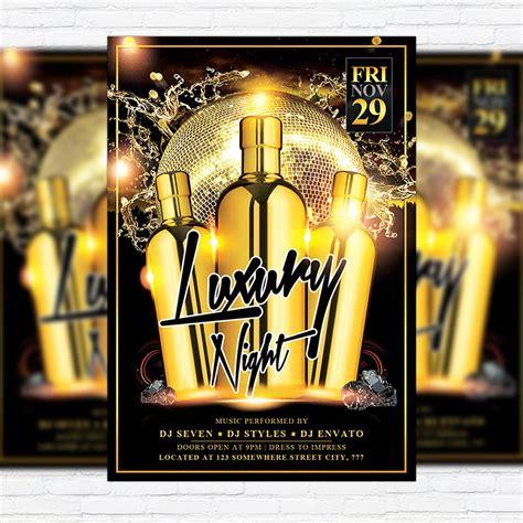 luxury night premium flyer template facebook cover