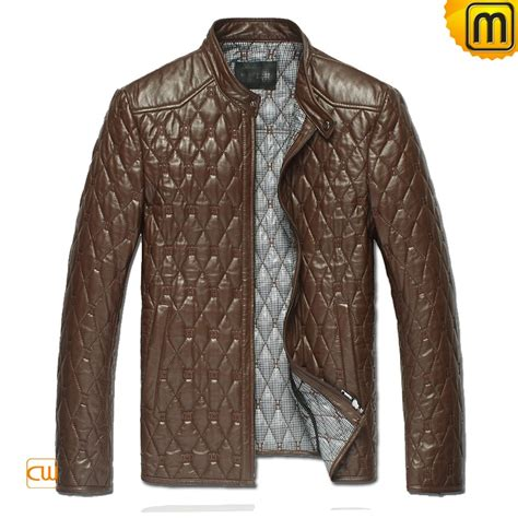 Quilted Leather Jackets s black quilted leather jacket cw821001