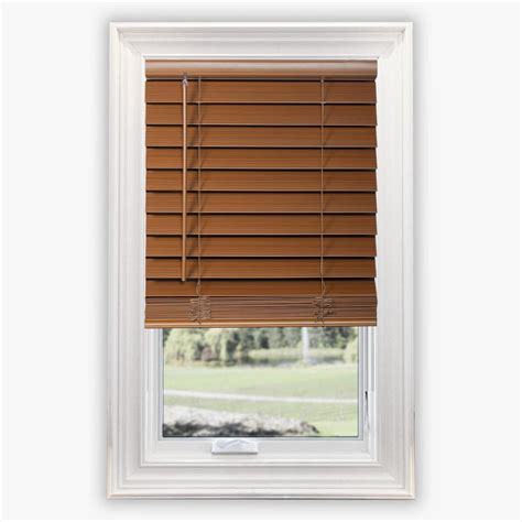 Home Decorators Collection Faux Wood Blinds by Home Decorators Collection Cut To Width Maple Cordless 2 5 In Premium Faux Wood Blind 72 In