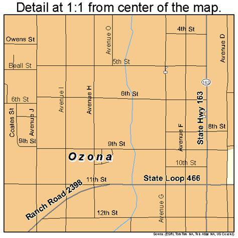 ozona texas map ozona texas map 4854552