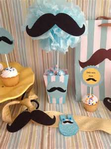 Mustache Themed Baby Shower Decorations Little Man Mustache Centerpiece Treat Goody Bag Mustache