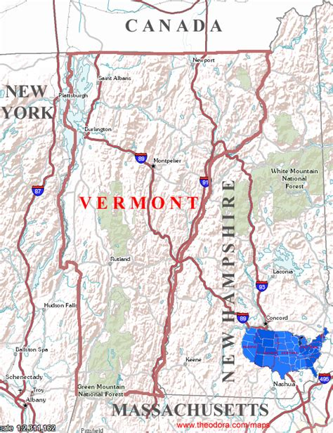 us map states vermont vermont maps