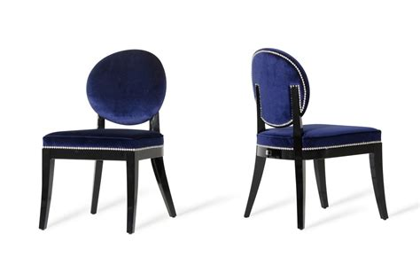 modern blue dining chair set of 2 chairs