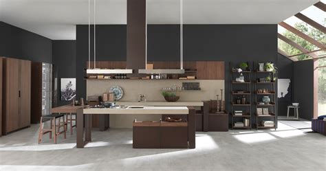 Kitchen Island Hood by Pedini Usa
